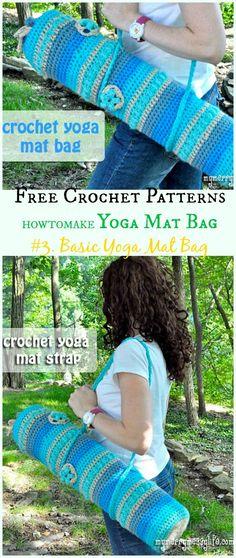 Basic Yoga Mat Bag Free Crochet Pattern -#Crochet; #Yoga; Mat Bag Free Patterns