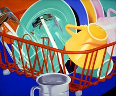 James Rosenquist, Dishes, 1964, oil on canvas