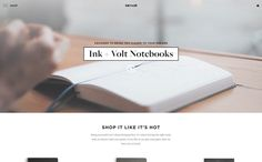 Ink + Volt - ecommerce website and shop focused on stationery, office supplies, planners and notebooks