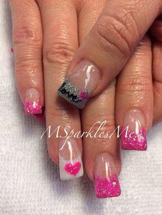 Valentine's Day Acrylic Nail Art Designs & Ideas 2019 Nail Stamping nail stamping london ontario Fancy Nails, Trendy Nails, Diy Nails, Cute Nails, Shellac Nails, Nail Art Designs, Acrylic Nail Designs, Solar Nail Designs, Garra