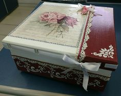 Jewellery Boxes, Jewelry Box, Aluminum Foil Art, Decoration Shabby, Ceramic Boxes, Painted Boxes, Diy Home Crafts, Vintage Shabby Chic, Diy Wood Projects