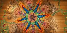 Street Art par Joe Mangrum : Mandalas Ephemeres en Sable de Couleurs (video)