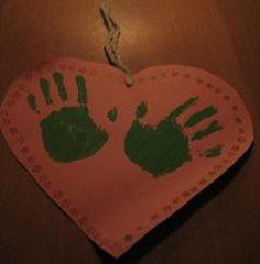 Handafdruk op hart