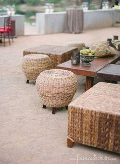 Wedding Reception - Rancho La Zaca - outdoor seating by the pond