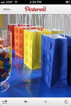 Lego gift bag idea for Gander