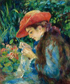 Marie-Thérèse Durand-Ruel cousant - Auguste Renoir, 1882