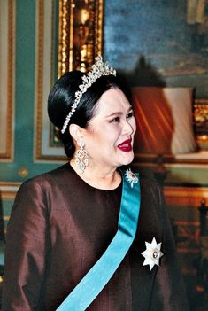 HM Queen Sirikit in occasion of state banquet in honour of HM Queen Margrethe II, HRH Prince Henrik and HRH Crown Prince Frederik of Denmark.