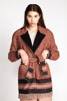 Yona Wrap Coat - Named pattern