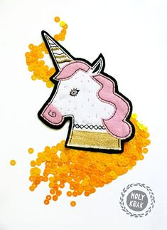 UNICORN PATCH - Lana del rey music inspired patch - Birthday unicorn Birthday gift Gift for girl Gift for friend