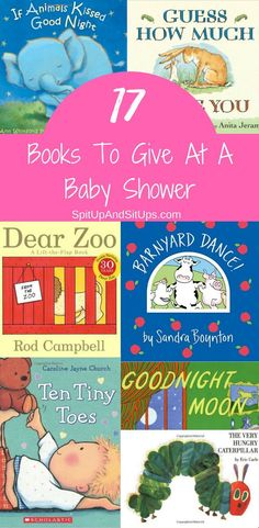 Books to give at a baby shower that are sure to please the mom-to-be! Baby Shower Gift Ideas, Books for Baby shower Unique Baby Shower Gifts, Baby Shower Gifts For Boys, Baby Shower Parties, Baby Shower Registry, Baby Shower Signs, Shower Baby, Best Baby Book, Books For Boys, Baby Books