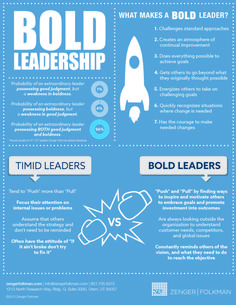 What Are 7 Qualities Of Bold Leaders? #infographic