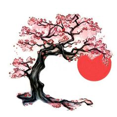 Cherry blossom tree, japanese sun , Photoshop, me want