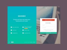 Sqoobe - simple landing page designed by Stano Bagin. Login Page Design, Landing Page Design, Web Design School, Fluent Design, Login Form, Web Forms, Mobile Web Design, Ui Web, Free Sign