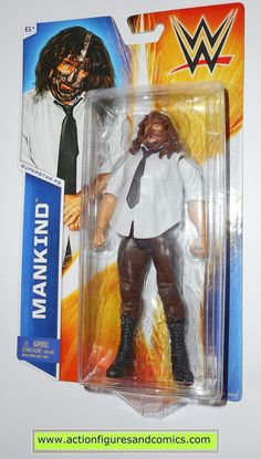 Wrestling WWE MANKIND superstar 3 basic 2014 mattel toy action figures moc mip m Figuras Wwe, Wwe Toys, Wwe Action Figures, Stone Cold Steve, Shawn Michaels, Wrestling Wwe, Sideshow Collectibles, Wwe Wrestlers, Wwe Superstars