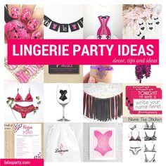 Lingerie Party Ideas. Bachelorette and bridal shower alternative. Be sexy without the sleaze.