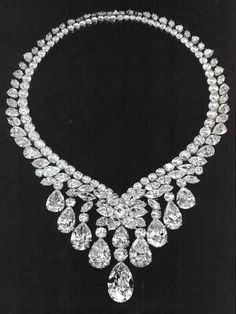 The most important diamond necklace ever offered at auction at the time --- sold for $4,400,500 in 1994. Harry Winston.