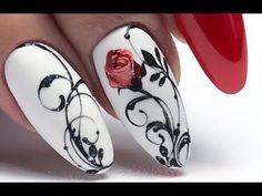 Organization Ideas for the Home - Gratis Beauty - 15 Romantic Elegant Nail Art Designs 2019 Elegant Nail Art, Trendy Nail Art, Winter Nail Art, Winter Nails, Fall Nails, Nail Art Arabesque, Romantic Nails, Valentine Nail Art, Luxury Nails