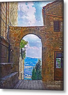 Italy Metal Print featuring the photograph Etruscan Arch by Hanny Heim, Snowbird Photography