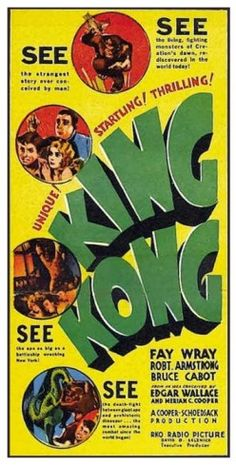 King Kong 1933 Three Sheet Style C