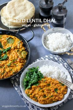 Ready in just 20 minutes, this quick and flavourful red lentil dahl recipe (aka dhal, dal, daal) is a great midweek meal or alternative homemade curry. Gluten free, vegan and vegetarian. Red Lentil Dahl I Red Lentil Dahl Recipe, Vegan Dahl Recipe, Curry Dal Recipe, Easy Indian Curries, Vegan Indian Recipes, Indian Dahl Recipe, Simple Indian Recipes, Healthy Vegetarian Recipes, Breakfast