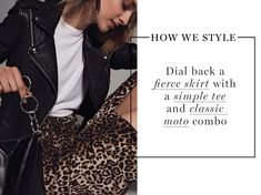 How We Style Animal Print Outfits, New Arrival Dress, Leopard Print Top, Veronica Beard, Fall 2018, News Design, Tees, Skirts, Sweaters