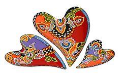 *Lass es Liebe sein* 3er Set aus Herzschalen - auch in gold erhältlich! Toms Drags auf www.amaru-design.com