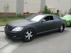 Matte Black Mercedes S-Class by West Coast Customs