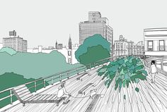 Editorial work of The High Line to illustrate an article for the in-flight magazine for Cathay Pacific.