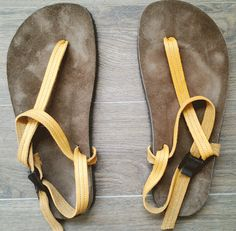 New review from @basicbare One thin piece of rubber. One leather strap. One plastic buckle. And earthing. http://bit.ly/1GxEt8X That's all you really need! #barefootrunning
