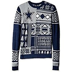ceb68c807f7  24.99 NFL Patches Ugly Sweater- Pick Team! Ugly Sweater