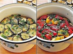 Grilled marinated aubergine and pepper snack. Marinated Eggplant Recipe, Eggplant Recipes, Cookbook Recipes, Cooking Recipes, Pickled Eggplant, Unique Recipes, Ethnic Recipes, Quick Recipes, Beet Soup