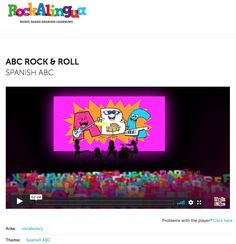 ABC Rock and Roll (Spanish ABC) Video for Kindergarten - 8th Grade | Lesson Planet Lesson Planet, Direct Instruction, Spanish Alphabet, Instructional Strategies, Rock And Roll, Kindergarten, Language, Classroom, Teacher