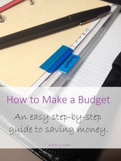 How to make a budget. Easy and simple. Some people make it super complex. Also links to a free budget worksheet to download and use!