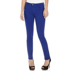 Joe's Jeans Skinny Jeans, Colored Denim Blue Wash High Rise