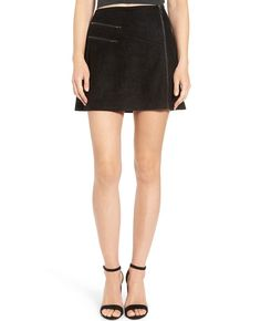 2321a4fcb Lush Zip Front Faux Suede Miniskirt available at. Quick Apparels · Women Leather  Skirts