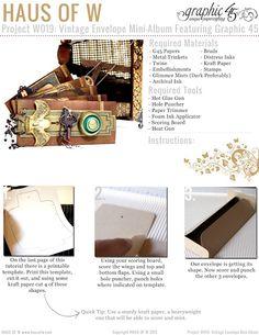 Haus Of W: Project W019: Vintage Envelope Mini-Album Featuring Graphic 45