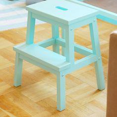 Bekvam, Ikea Stool, Aqua, Turquoise, Painted Furniture, Favorite Color, Something To Do, Diy, Painting