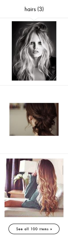 """""""hairs (3)"""" by ivystyles ❤ liked on Polyvore featuring models, people, backgrounds, faces, pictures, hair, photos, beauty products, haircare and hair styling tools"""