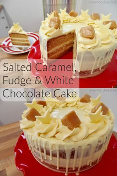 This deliciously sweet dessert is sure to be a crowd pleaser at any social occasion! Fondant Au Caramel, Salted Caramel Chocolate Cake, Homemade Chocolate, Chocolate Cakes, Chocolate Caramels, White Chocolate Desserts, Hazelnut Cake, No Bake Cake, Cupcake Cakes