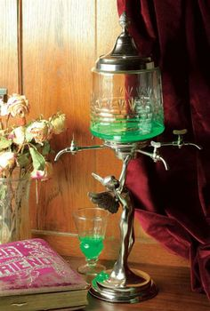 Absinthe Decanter- 20c. drink that drops upon sugar cubes