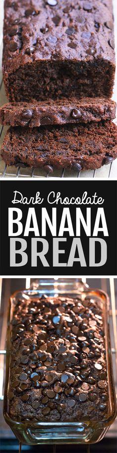 Chocolate Banana Bread, tastes like cake but it's healthy and vegan!