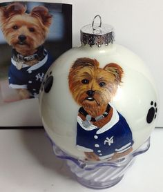 www.cyndiewade.com Christmas Animals, Custom Paint, Christmas Bulbs, Teddy Bear, Hand Painted, Pets, Holiday Decor, Painting, Animals And Pets