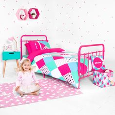 Our fun multi-coloured quilt cover set adds instant charm to a child?s bedroom and ties in wonderfully with other products in the Diamond Confetti range. NOTE: only Quilt cover and pillow case is included