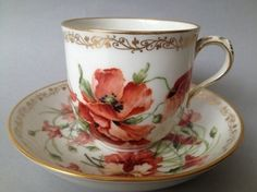 KPM (Berlin,Germany) — Cup and Saucer, 19th Century (750x562)