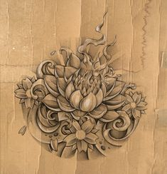 lotus+sketch+by+DLXONE.deviantart.com+on+@deviantART