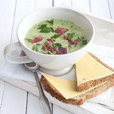 Recept - Broccolisoep met rauwe ham - Allerhande