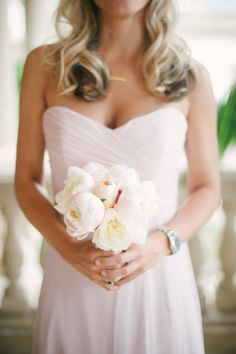 Blush bouquet | Photography: Heather Kincaid - heatherkincaid.com  Read More: http://www.stylemepretty.com/california-weddings/2014/05/23/romantic-elegance-at-bel-air-private-estate/