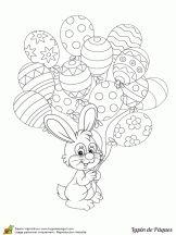 Kleuren Easter bunny op Hugolescargot.com
