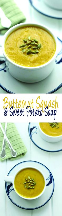 Butternut Squash and Sweet Potato Soup - a sweet and zesty soup to keep you warm through the Fall and Winter months!