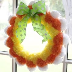 Gwyn @SparklingCharm posted to Instagram: Get Crafty this weekend...Candy Corn Pom Pom Wreath! Link Above/Search Create #SparklingCharm #sparklingcharmcreate #halloween #october #candycorn #candycorncrafts #diy #craft #fall #crafty #crafting #seasons #pompoms #artsandcrafts #pompomcrafts #diywreaths #halloweenwreaths #fallwreaths #fallcrafts #wekkenddiys #crafts #crafter #autumncolours #yarn #yarncrafts #pompom #kidscrafts #candycornlove #candycrafts